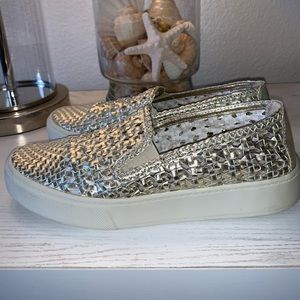 SPARKLY SLIGHT PLATFORM SLIP ON SNEAKERS